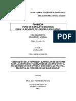 Propuesta Foro Nacional Asesor José Hernández Pereira