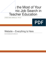 making the most of the academic job search