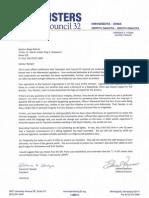 JC32 Teamsters Drive Rescinds Endorsement
