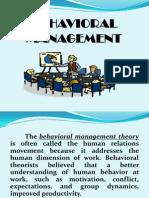 Behavioral Management1