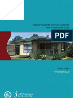 Special residential and non-residential uses in residential zones Territory Plan policy review