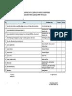 Form Checklist Kelengkapan Leger Jalan