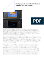 Dernières Nouvelles A propos de Nintendo   Actualisation   portable  et  Premier  Nintendo 3DS Jeux    Analyse