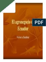 El Agronegocio en Ecuador