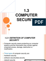 1.3 Compyter Security