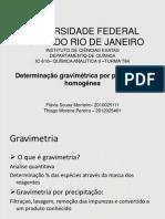 Determinação Gravimétrica de Magnésio Por Precipitação Homogênea