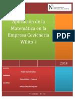 Aplicación de La Matemática en La Empresa Cevicheria Wilito
