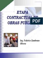 Etapa Contractual de Obras Publicas - Ing. Zambrano. 5ta Clase