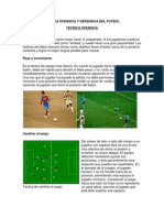 Tecnica Ofensiva y Defensiva Del Futbol