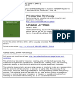 Behme, Christina (2011). a Review of Language Universals. Philosophical Psychology 24(6), 867-871