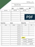 weekly plan sheet