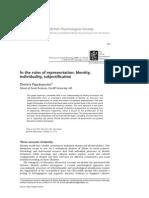 La Caida de La Representacion British Journal of Social Psychology
