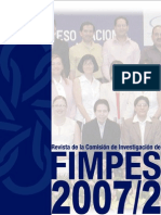 Revista de la Comisión de Investigación de FIMPES 2007_2