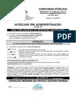 Caderno de Prova - Auxiliar Em Administração