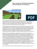 Dernières Nouvelles A propos de Nintendo   Actualisation   Portable  et  Leader  Nintendo 3DS Jeux    Activités d'évaluation