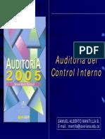 A. Auditoria Del Control Interno