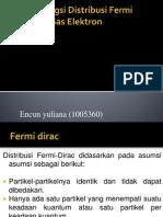 Aplikasi Fungsi Distribusi Fermi Dirac Pada Gas Elektron