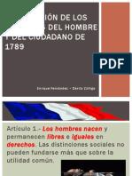 Declaracion de Los Derechos Del Hombre y Del Ciudadano Constitucional General