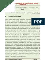 LA SOCIEDAD DEL CONOCIMIENTO Y LA FORMACIÓN INTEGRAL  DEL HOMBRE