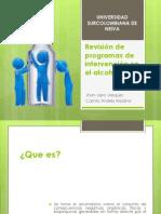Revisión de Programas de Intervención en Alcoholismo