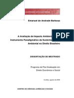 A Avaliacao de Impacto Ambiental - Emanuel de Andrade Barbosa