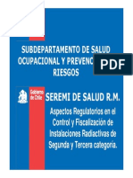 Aspectos Regulatorios Seremi Salud