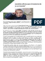 """El Trastorno de Hiperactividad """"Es Un Invento"""" (29!11!2013)"""