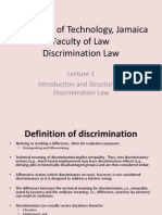 Discrimination Law, Lecture 1