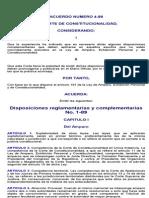 Disposiciones Reglamentarias y Complementarias No. 1-89
