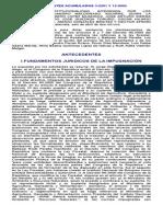c.c. Expedientes Acumulados 3-2201 y 13-2002