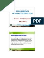 Halal Certification Policies and Procedures Has 23000