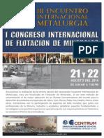 Brochure III Encuentro Internacional Metalurgia 2014