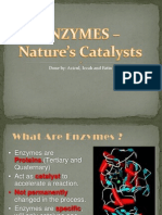 Enzymes (Chemistry A level Application)