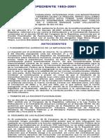 c.c. Expediente 1553-2001