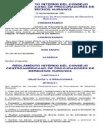 Reglamento Interno Del Consejo Centroamericano de Procuradores de Derechos Humanos