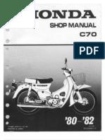 Honda Manual Shop C-70