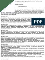 Protocolo Facultativo Del Pacto Internacional de Derechos Civiles y Politicos
