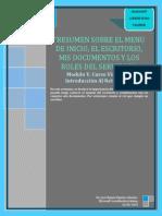Menu INICIO-Escritorio-Mis Documentos-Roles Del Servidor-Modulo V