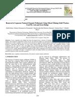 Removal of Aqueous Natural Organic Pollutants Using Mixed Mining Solid Wastes