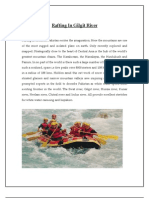 Rafting in Gilgit River