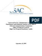USAC Report on FCC OIG High Cost Program Beneficiary Audits September 2009