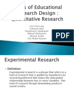 Types of Educational Research Design