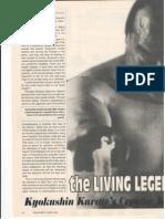 Article on Mas Oyama by Nathan Ligo