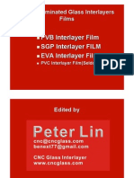 Safety Laminated Glass Interlayer EVA Interlayer Fim, PVB Interlayer Film, SGP Interlayer Film