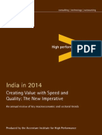 India 2014 Creating Value Speed Quality
