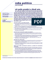 India Politics- Exit Polls Predict a Modi Win- CLSA