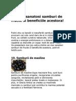 Cei Mai Sanatosi Samburi de Fructe Si Beneficiile Acestora