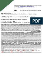 MUNTENEGRU circuit+sejur 10 zile