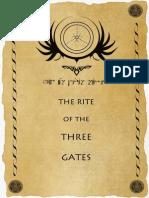 The Rite of the Three Gates
