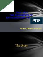 July 2013 Dimension of Extraordinary Purpose